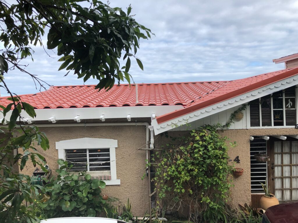 St. Thomas, USVI home with barrel style roof